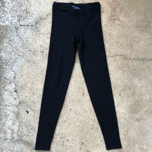 RALPH LAUREN Wool Ribbed Stretchy thick Leggings M